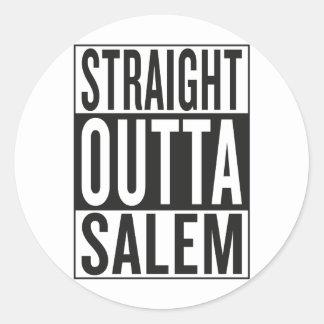 straight outta Salem Round Sticker