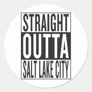 straight outta Salt Lake City Round Sticker