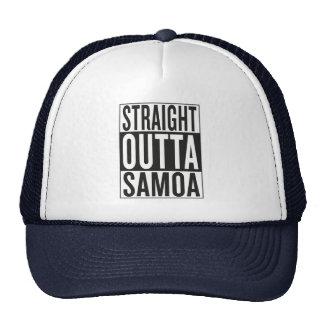 straight outta Samoa Trucker Hat