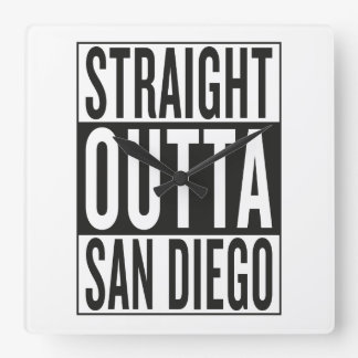 straight outta San Diego Square Wall Clock