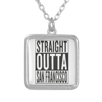 straight outta San Francisco Silver Plated Necklace