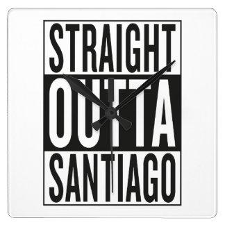 straight outta Santiago Square Wall Clock