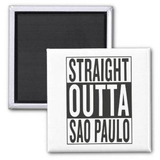 straight outta Sao Paulo Square Magnet