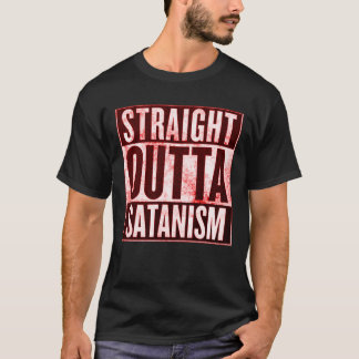 Straight Outta Satanism Occult Graphic Tee