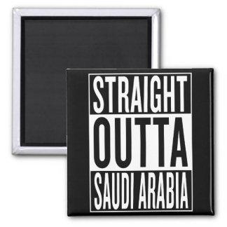 straight outta Saudi Arabia Square Magnet