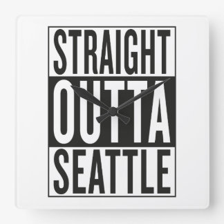 straight outta Seattle Clock