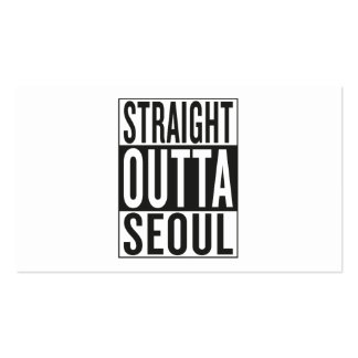 straight outta Seoul Business Card