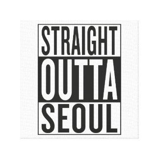 straight outta Seoul Canvas Print