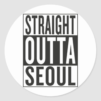 straight outta Seoul Classic Round Sticker