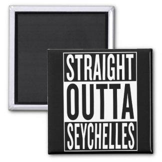 straight outta Seychelles Square Magnet