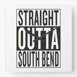 straight outta South Bend Wall Clock