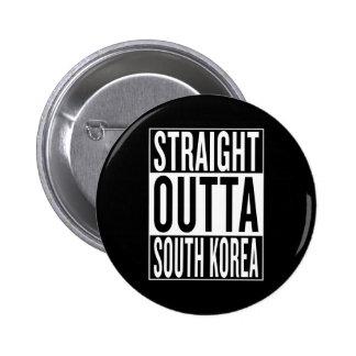 straight outta South Korea 2 Inch Round Button