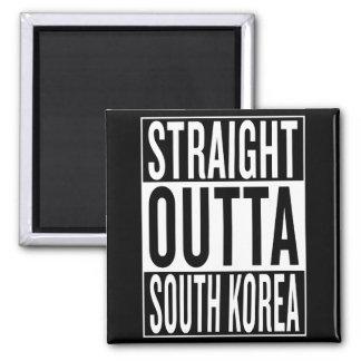 straight outta South Korea Square Magnet