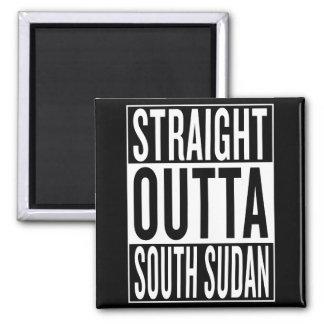 straight outta South Sudan Square Magnet