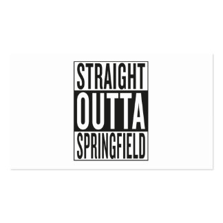 straight outta Springfield Business Card