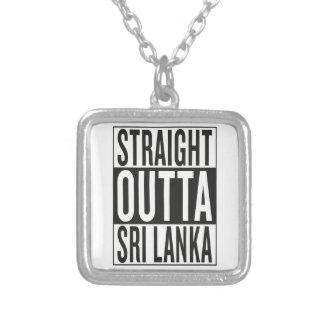 straight outta Sri Lanka Silver Plated Necklace