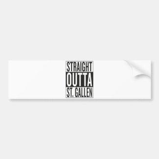 straight outta St. Gallen Bumper Sticker
