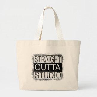 Straight outta STUDIO Large Tote Bag