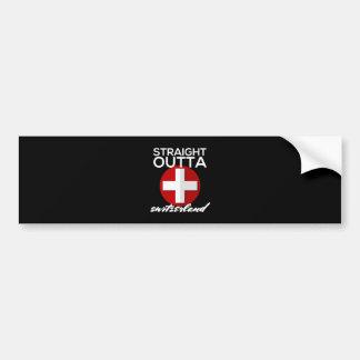 STRAIGHT OUTTA SWITZERLAND BUMPER STICKER
