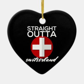 STRAIGHT OUTTA SWITZERLAND CERAMIC ORNAMENT