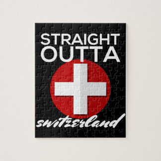 STRAIGHT OUTTA SWITZERLAND JIGSAW PUZZLE