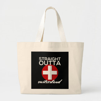 STRAIGHT OUTTA SWITZERLAND LARGE TOTE BAG