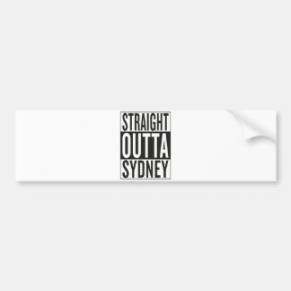 straight outta Sydney Bumper Sticker