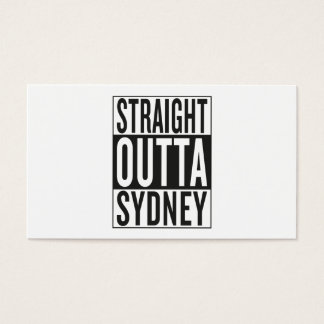straight outta Sydney Business Card