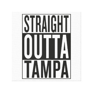 straight outta Tampa Canvas Print