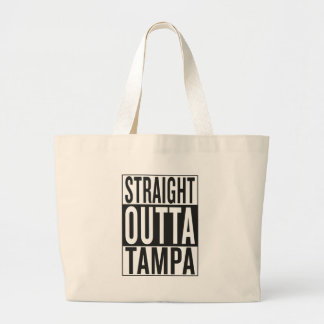 straight outta Tampa Large Tote Bag