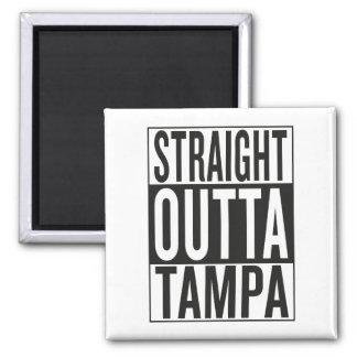 straight outta Tampa Square Magnet