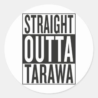 straight outta Tarawa Round Sticker