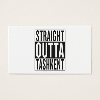 straight outta Tashkent Business Card