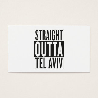 straight outta Tel Aviv Business Card
