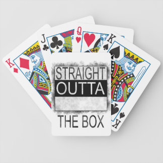 Straight outta the box bicycle playing cards
