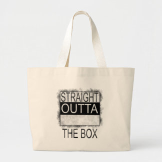 Straight outta the box large tote bag