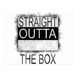 Straight outta the box postcard
