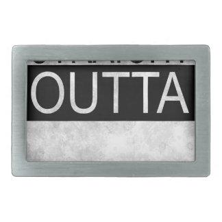 Straight outta the box rectangular belt buckles