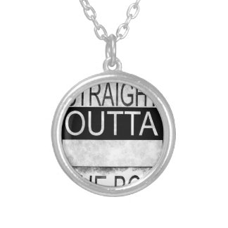 Straight outta the box silver plated necklace