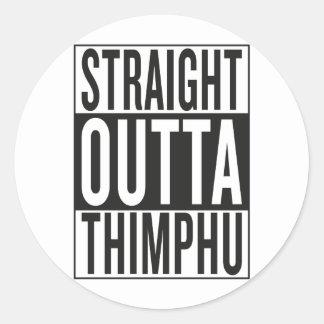 straight outta Thimphu Classic Round Sticker