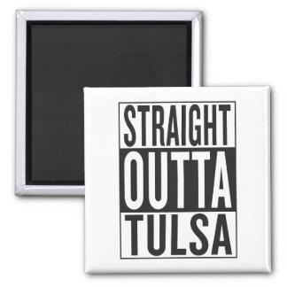 straight outta Tulsa Square Magnet