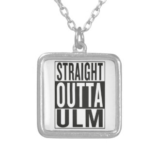 straight outta Ulm Silver Plated Necklace