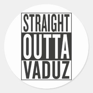 straight outta Vaduz Classic Round Sticker