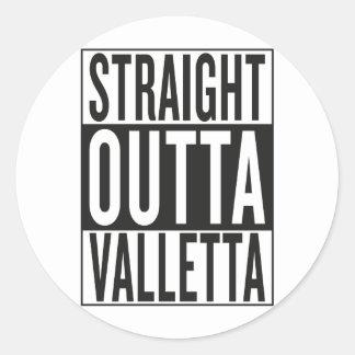 straight outta Valletta Classic Round Sticker