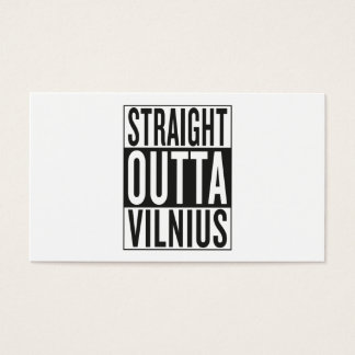 straight outta Vilnius Business Card