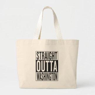 straight outta Washington Large Tote Bag