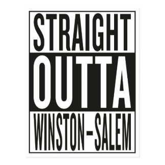 straight outta Winston–Salem Postcard