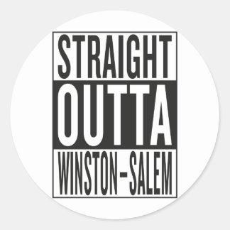 straight outta Winston–Salem Round Sticker