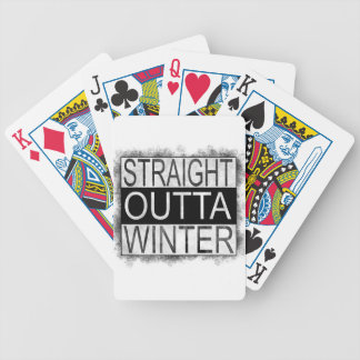 Straight outta WINTER Bicycle Playing Cards