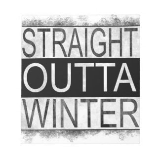 Straight outta WINTER Notepad